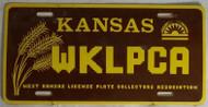 WKLPCA Kansas License Plate 1