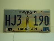 2011 MISSISSIPPI Lighthouse License Plate HJ3 190