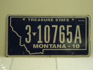 2010 MONTANA Treasure State License Plate 3 10765A