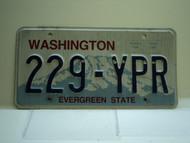 Washington Evergreen State License Plate 229 YPR