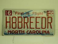 2012 NORTH CAROLINA First in Flight Vanity License Plate H8BREEDR