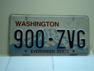 Washington Evergreen State License Plate 900 ZVG