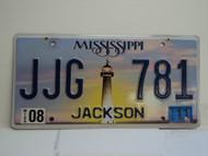 2011 MISSISSIPPI Lighthouse License Plate JJG 781
