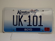 2013 KENTUCKY Unbridled Spirit VANITY License Plate UK 101