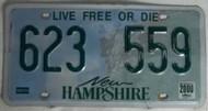 2000 New Hampshire 623 559 License Plate