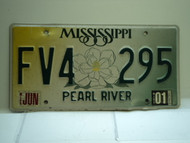 2001 MISSISSIPPI Magnolia License Plate FV4 295