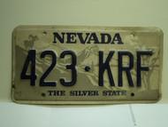 NEVADA Silver State License Plate 423 KRF