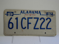 1997 ALABAMA Heart of Dixie License Plate 61CFZ22