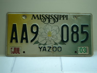 2003 MISSISSIPPI Magnolia License Plate AA9 085
