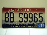 2007 IDAHO Famous Potatoes License Plate 8B S9965