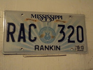 2013 MISSISSIPPI Birthplace of America's Music License Plate RAC 320