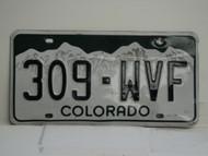 COLORADO License Plate 309 WVF