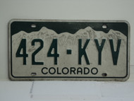 COLORADO License Plate 424 KYV