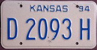 Kansas Dealer 1994 License Plate 2