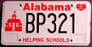 Alabama Helping Schools Kids License Plate 1
