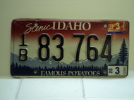 2002 IDAHO Famous Potatoes License Plate 1B 83 764