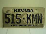 NEVADA Silver State License Plate 515 KMN