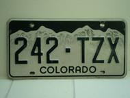 COLORADO License Plate 242 TZX