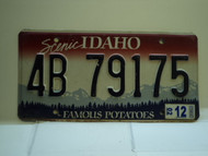 2002 IDAHO Famous Potatoes License Plate 4B 79175