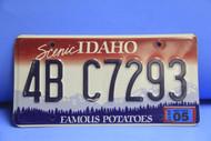 2005 IDAHO Scenic Famous Potatoes License Plate 4B C7293
