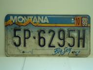 2000 MONTANA Big Sky License Plate 5P 6295H