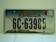 2010 MONTANA Big Sky Country License Plate 6C 63985