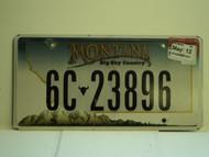 2012 MONTANA Big Sky Country License Plate 6C 23896