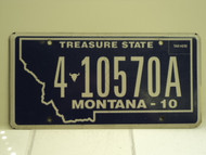 2010 MONTANA Treasure State License Plate 4 10570A