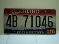2003 IDAHO Famous Potatoes License Plate 4B 71046