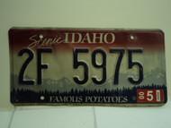 2000 IDAHO Famous Potatoes License Plate 2F 5975