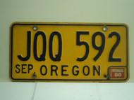 1988 OREGON License Plate JQQ 592