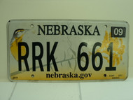 2013 NEBRASKA .GOV Western Meadowlark License Plate RRK 661