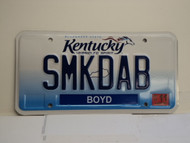 2013 KENTUCKY VANITY License Plate SMKDAB smack dab
