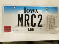 2015 Iowa Lee County License Plate MRC2