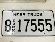 2005 Nebraska Hall County Commercial Truck License Plate 8 17555