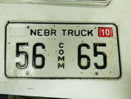 2005 Nebraska Sherman County Commercial Truck License Plate 56 65