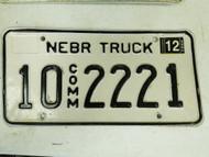 2005 Nebraska Platte County Commercial Truck License Plate 10 2221