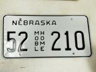 Nebraska Kearney County Mobile Home License Plate 52 210