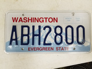 Washington Evergreen State License Plate ABH2800
