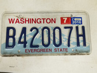 Washington Evergreen State License Plate B50755N
