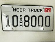2005 Nebraska Platte County Commercial Truck License Plate 10 8000