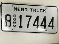 Nebraska Commercial Truck Hall County License Plate 8 17444