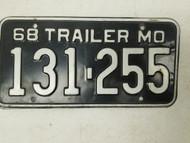 1968 Missouri Show-Me State License Plate 131-255