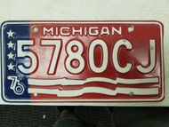 1976 Michigan License Plate 5780CJ
