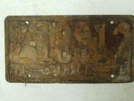 1944-1945 Panama License Plate Z-18912