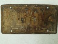 1944-1945 Panama License Plate Z-18914