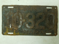 1942 Panama License Plate 10-320