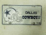 Dallas Cowboys Football Helmet Booster License Plate