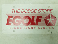 The Dodge Store EGOLF Hendersonville North Carolina Booster License Plate