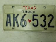 Texas Truck License Plate AK6-532